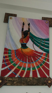 Dancing Wooden Wall Art Mural Painting