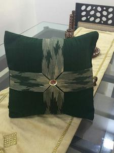 Green Dupion Silk And Banarasi Silk Patch