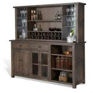 PERFECT HOME BARS WEBER CUSTOM WALL BAR AND CHINA CABINET