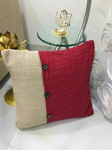 Jute With Ikkat Flap - Cushion
