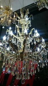 Bronze Chandelier with genuine lead crystal - REF RAKBR 18 LAMPS