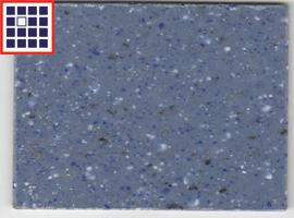 HYBRID SOLID SURFACE 2.5MM DOTED BLUE