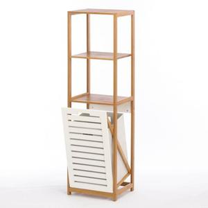 The Bathroom Needs - Bamboo Hamper Shelf