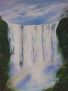 My waterfall oil painting