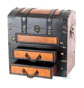 Decorative Wooden Chest with Drawers