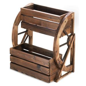 Wagon Wheel Double -Tier Planter