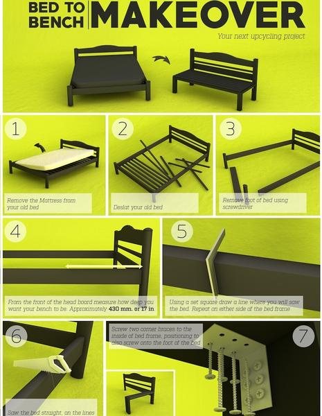 Diy Bed To Bench Makeover Easy Step By Step Guide