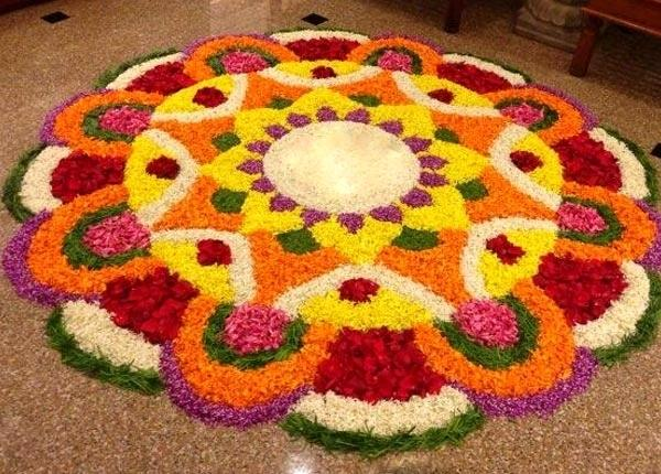 Time To Adorn The Floor The Traditional Way The Colorful Rangoli